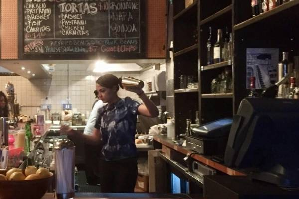 alexandria ocasio cortez bartender