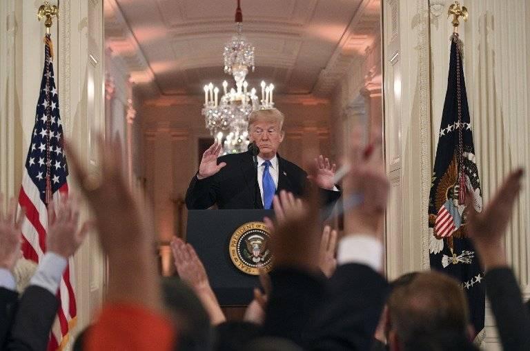 Donald Trump ante los periodistas