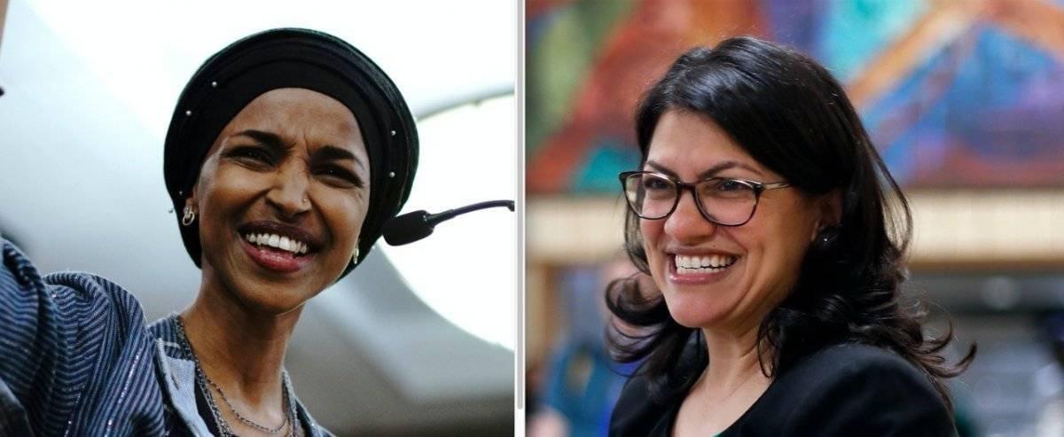 Las dos primeras mujeres musulmanas. AP
