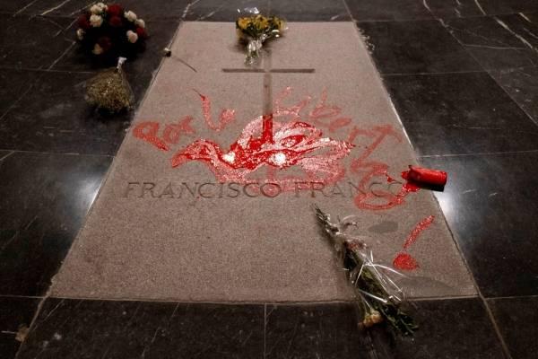 La tumba del dictador Franco en el Valle de los Caídos. AP