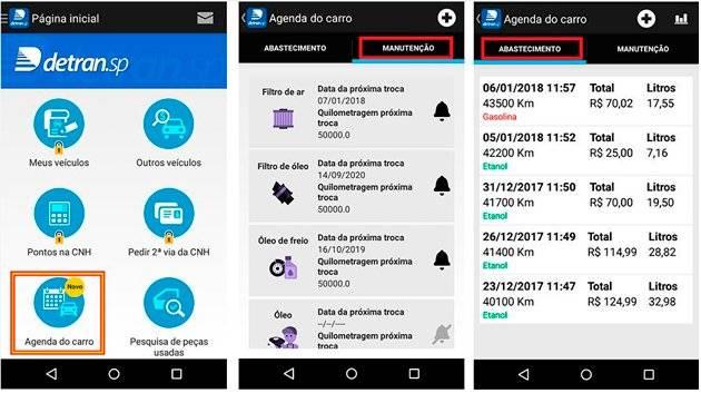 app detran manutenção