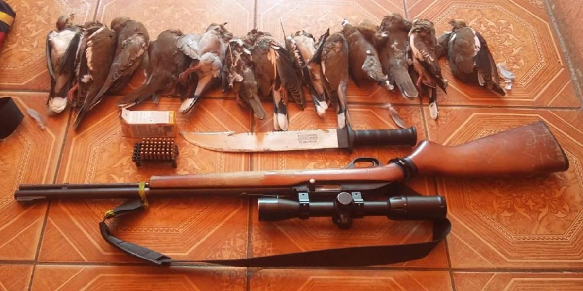 Capturado llevaba consigo arma de fuego ilegal y 13 aves muertas