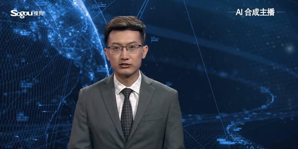 China presenta al primer conductor de noticias virtual