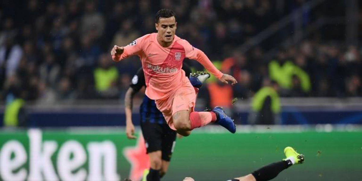 Philippe Coutinho sufre una ruptura en el bíceps y será baja para el Barça