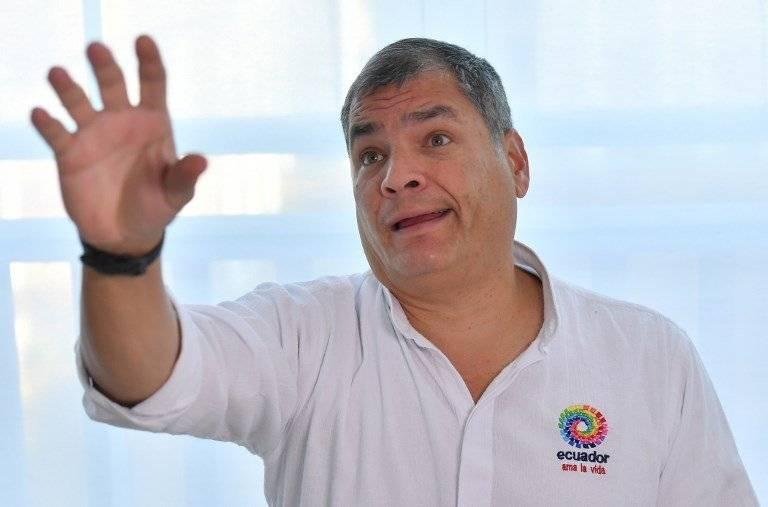 Rafael Correa en Bélgica