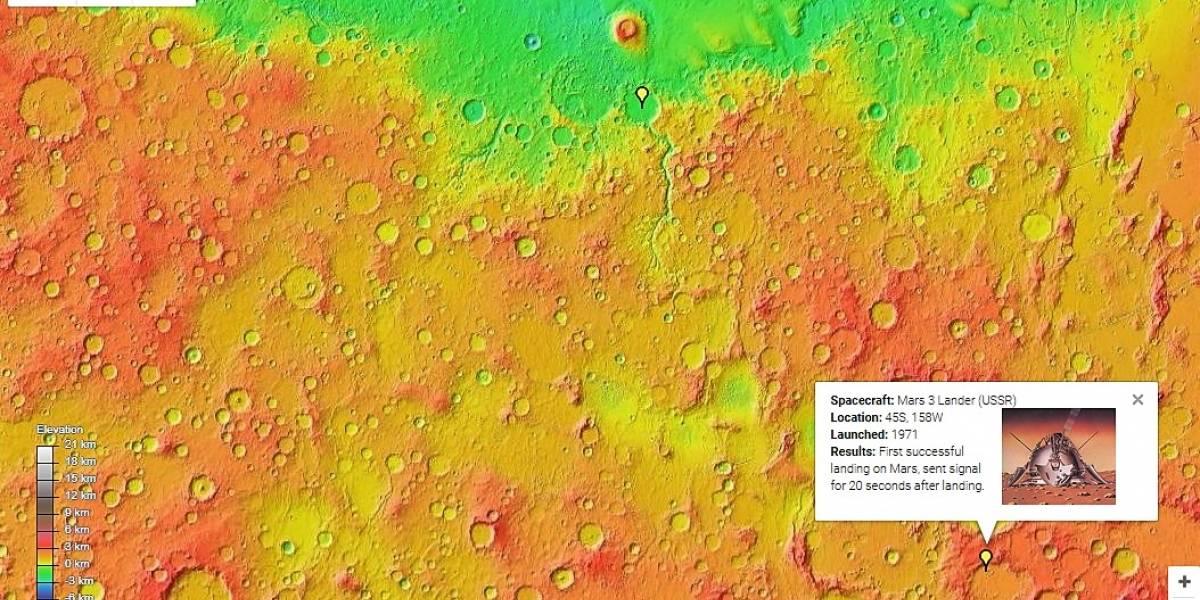 Nuevos mapas de Google te permiten ver a Marte con lujo de detalles