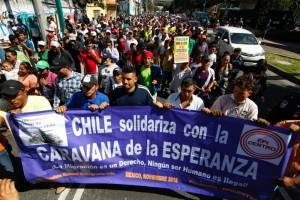 Marcha migrantes hondureños