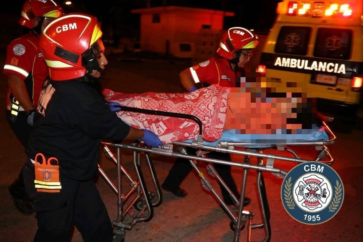 mujer herida por bala perdida en zona 21