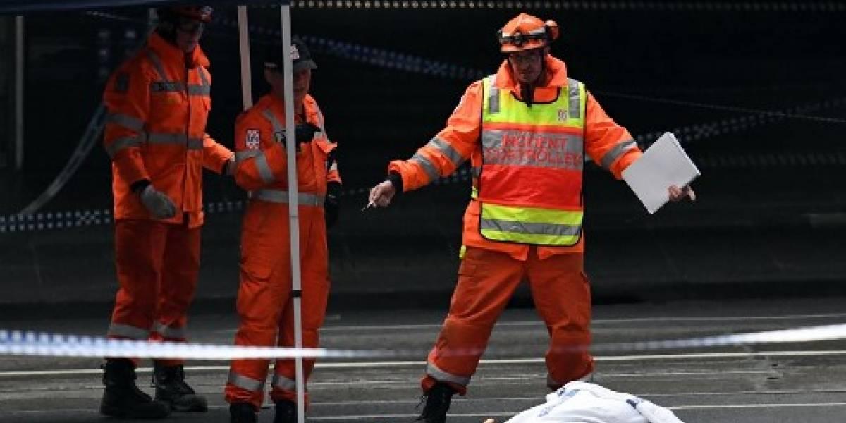 """Un ataque """"terrorista"""" con cuchillo reivindicado por el EI deja un muerto en Australia"""