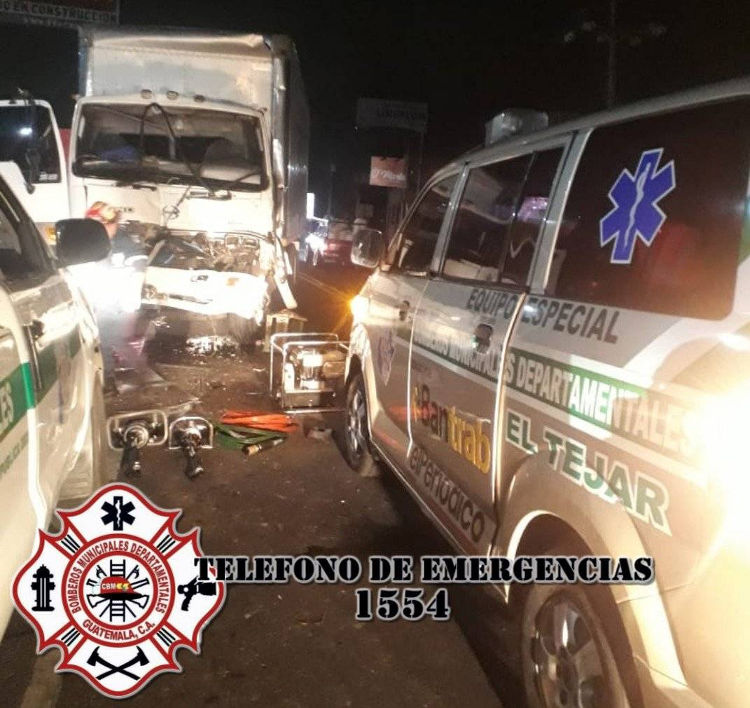 accidente en Km. 52 ruta Interamericana