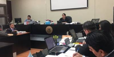 audiencia de primera declaración contra Carlos Vielmann en caso ejecuciones extrajudiciales