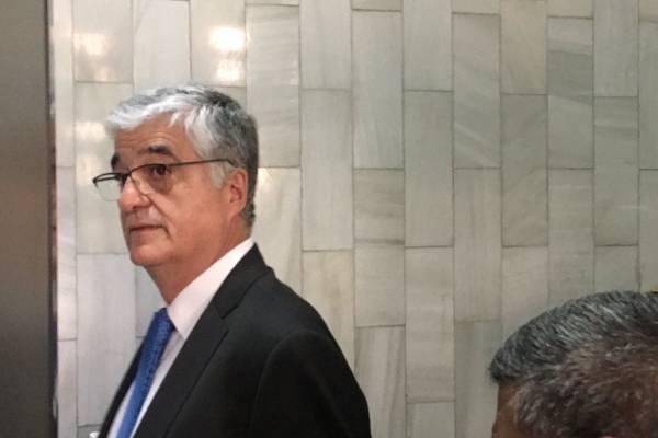 Audiencia de primera declaración contra Carlos Vielmann en caso ejecuciones extrajudiciales.