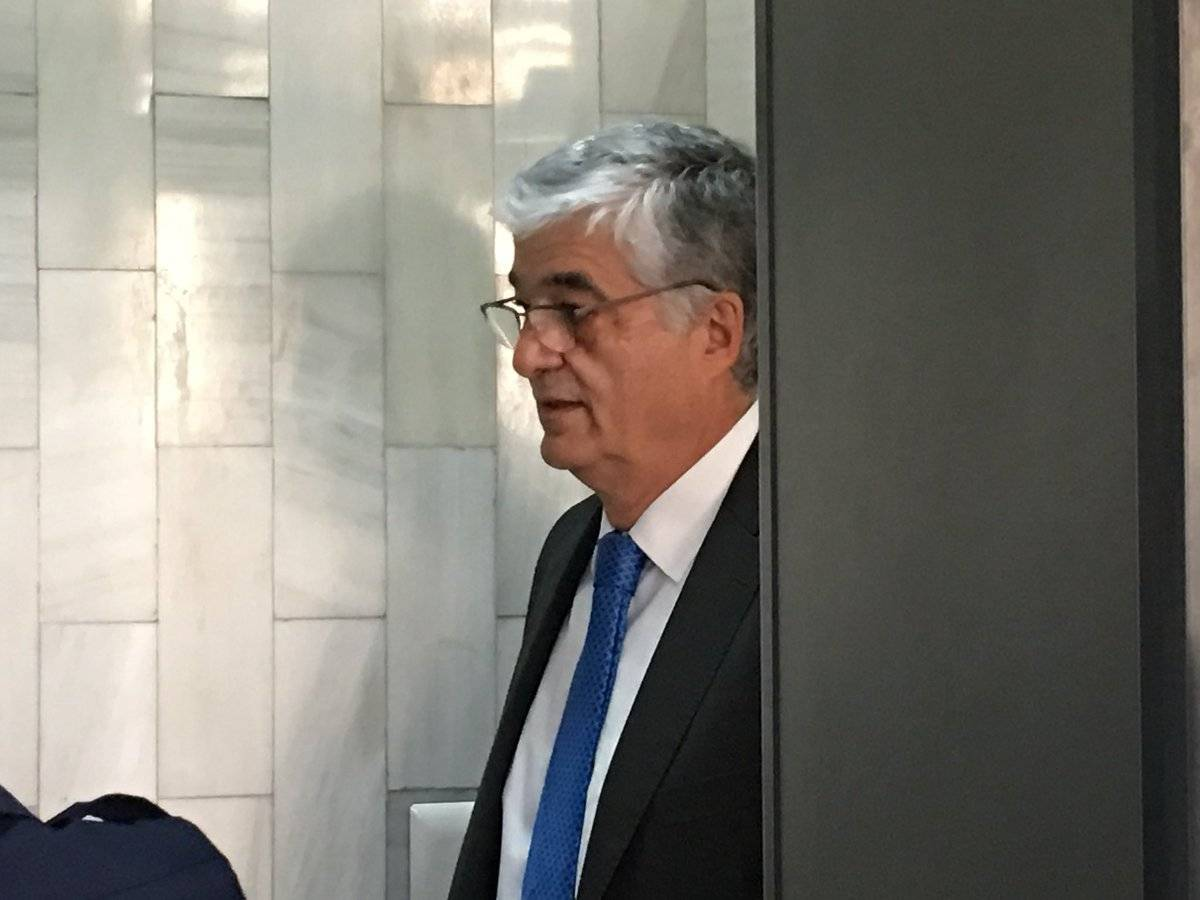 Exministro Carlos Vielmann en la audiencia de primera declaración por el caso ejecuciones extrajudiciales. Foto: Jerson Ramos