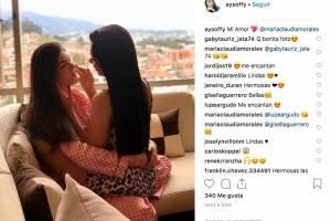 Excandidata a Miss Ecuador publica romántica foto junto a su novia