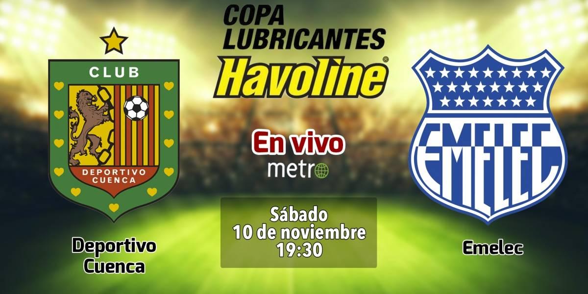 Deportivo Cuenca vs Emelec : EN VIVO, dónde ver el partido, canales de transmisión y alineaciones