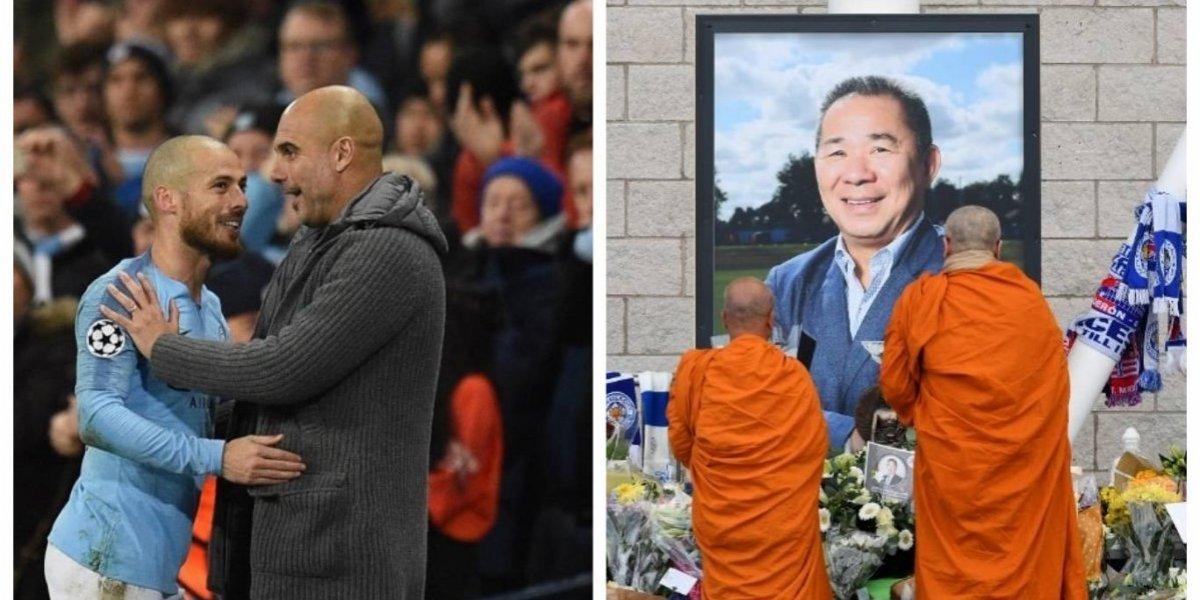 Derbi de Mánchester y homenaje al fallecido dueño del Leicester captarán la atención