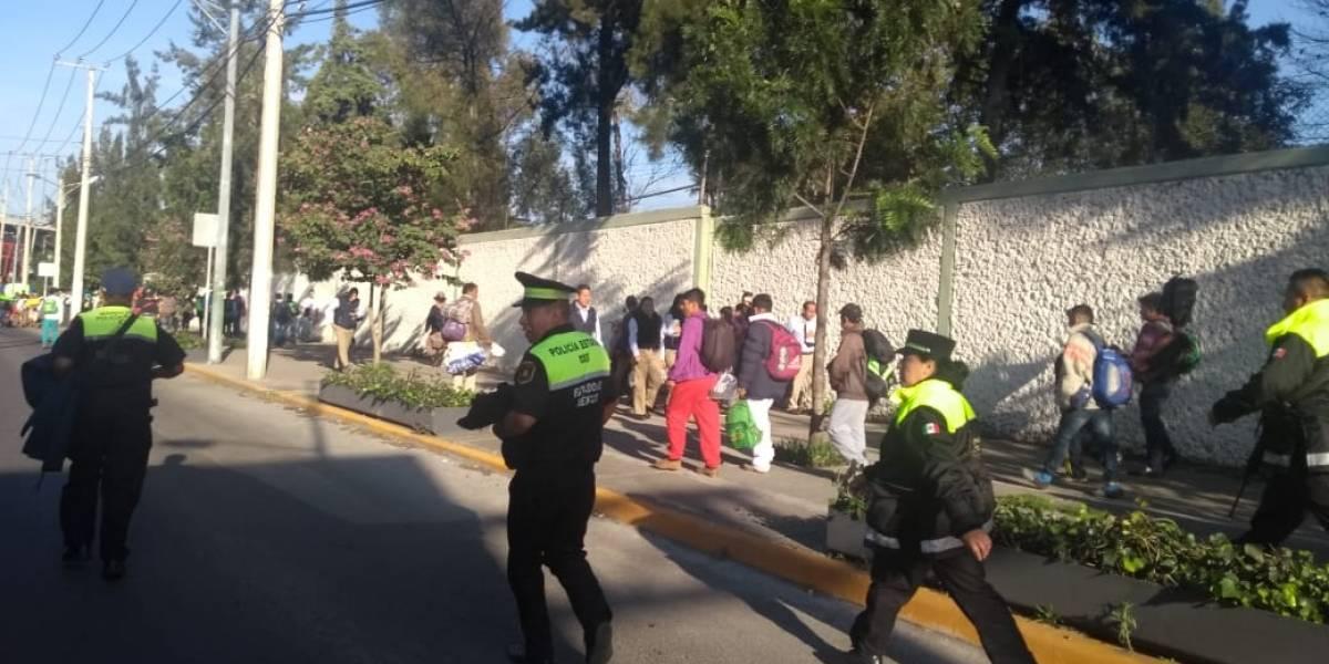 Resguardan seguridad de caravana migrante a su paso por el Estado de México