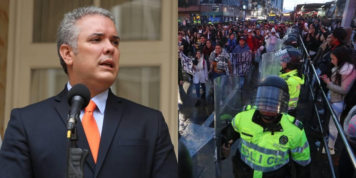 Iván Duque se pronunció en torno a los actos vandálicos durante las marchas en Colombia
