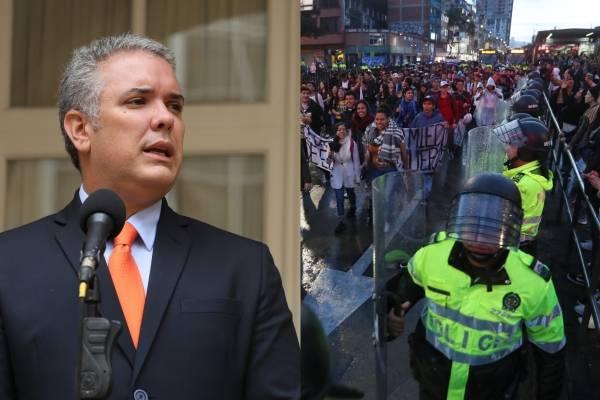 Iván Duque habló sobre los actos vandálicos en protestas