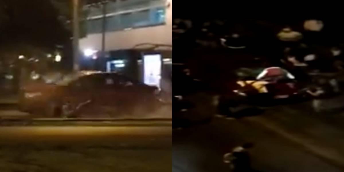Revelan la posible razón por la que carro habría sido atacado en medio de protestas