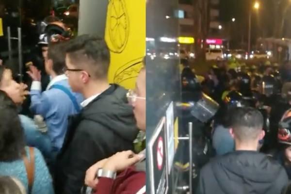 Enfrentamientos Esmad y estudiantes
