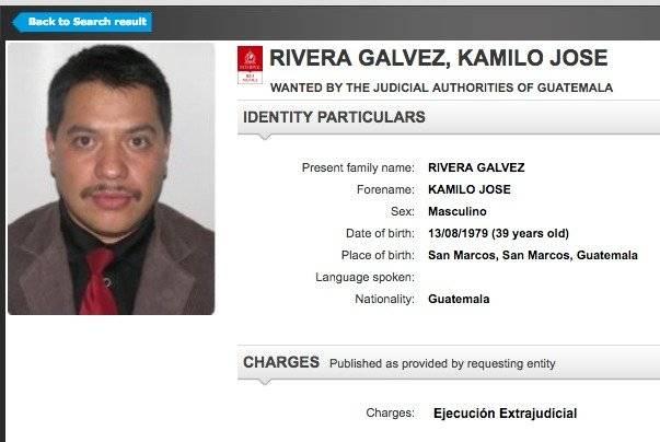 Alerta de Interpol para búsqueda de Kamilo Rivera