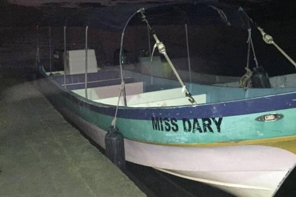 Embarcación con contrabando