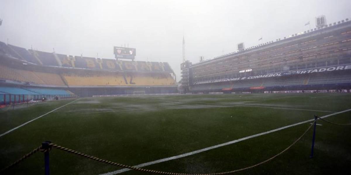 Por lluvia, la Conmebol suspende la final de la Copa Libertadores de América