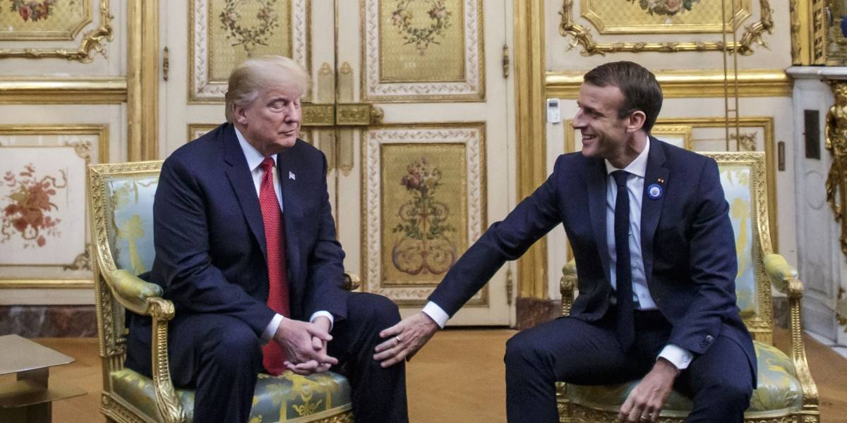 ¿Mejores amigos? Trump y Macron buscan reducir tensiones con una fraternal reunión