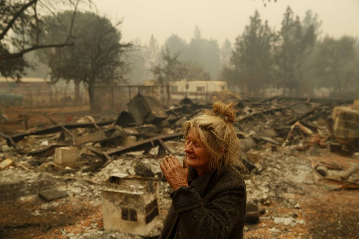 Mortal incendio forestal en California 42 muertos y mas 200 desparecidos