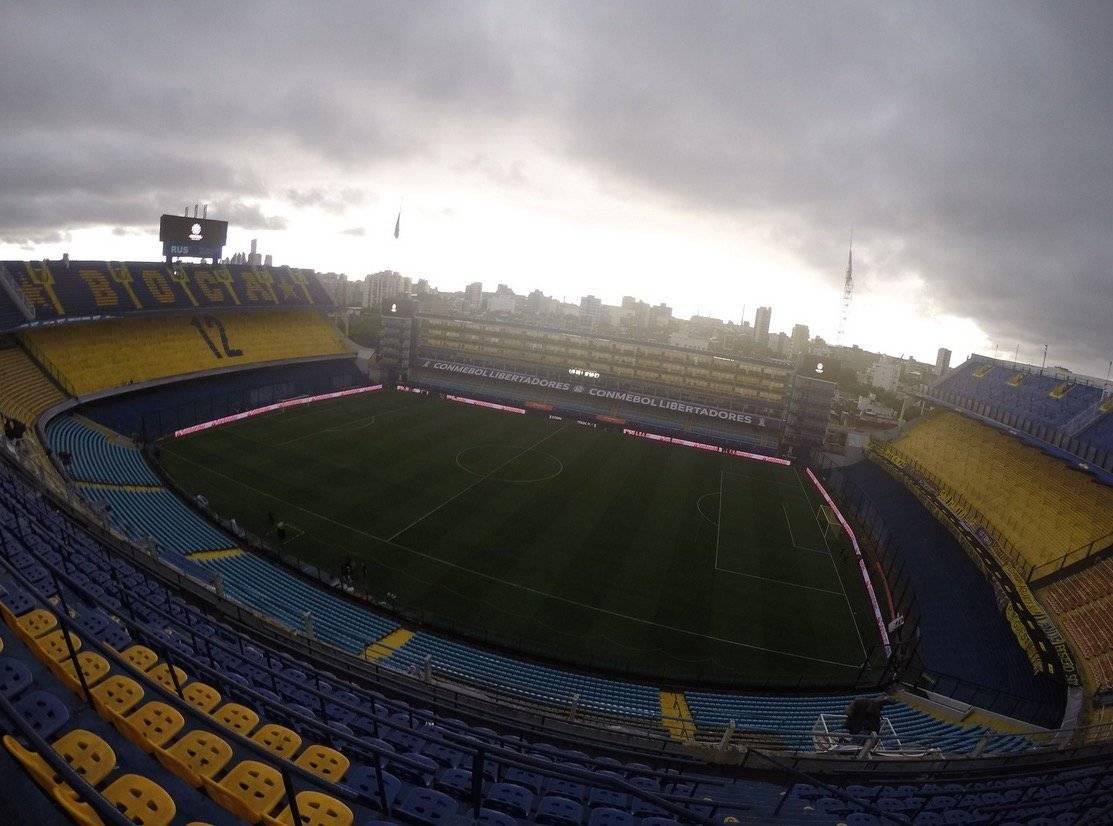 Las nubes amenazantes sobre La Bombonera. A partir de las 17:00 se jugará la final de la Copa Libertadores entre Boca y River / Foto: @BocaJrsOficial