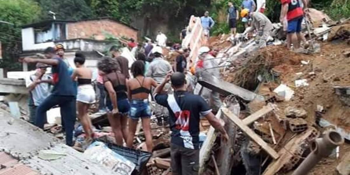 Desabamento em Niterói mata cinco pessoas; vítimas ficam soterradas