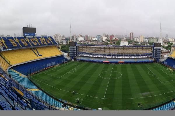 El panorama de La Bombonera para recibir la final de ida de la Libertadores entre Boca y River / Foto: @BocaJrsOficial