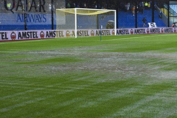 La Bombonera no resistió las fuertes lluvias / imagen: Getty Images