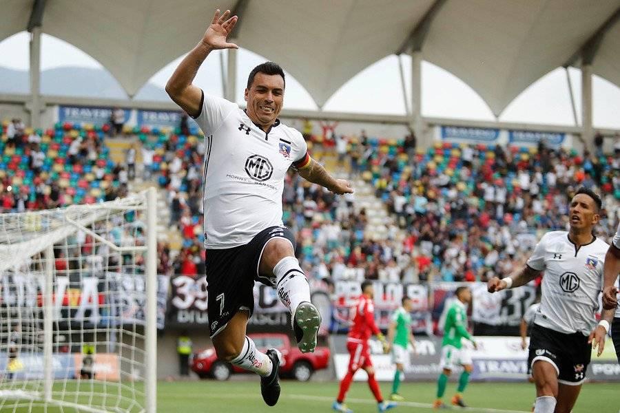 Ante Audax Italiano en La Florida, Esteban Paredes anotó su gol 210 en Primera División / Foto: Photosport