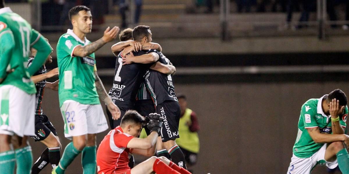 Palestino pegó fuerte y en la agonía venció a Audax Italiano en la primera final de Copa Chile