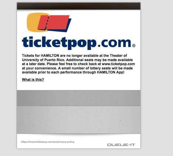 detienen venta boletos online Hamilton