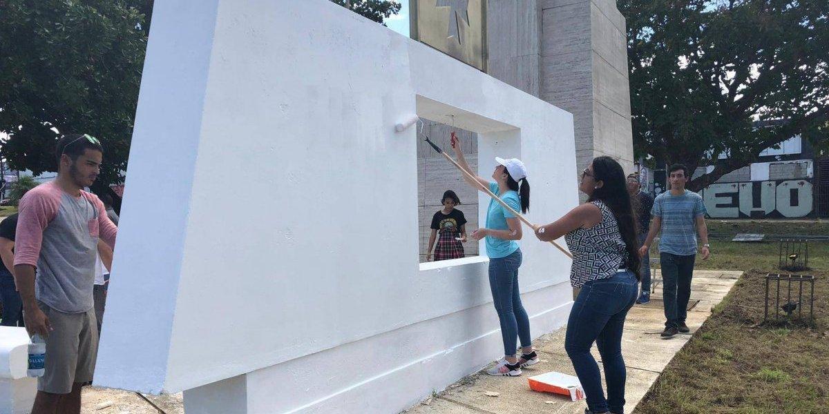 Restauran monumento de la 65 de Infantería para conmemorar el Día del Veterano