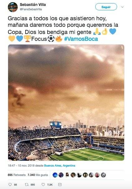 Twitter falso de Sebastián Villa