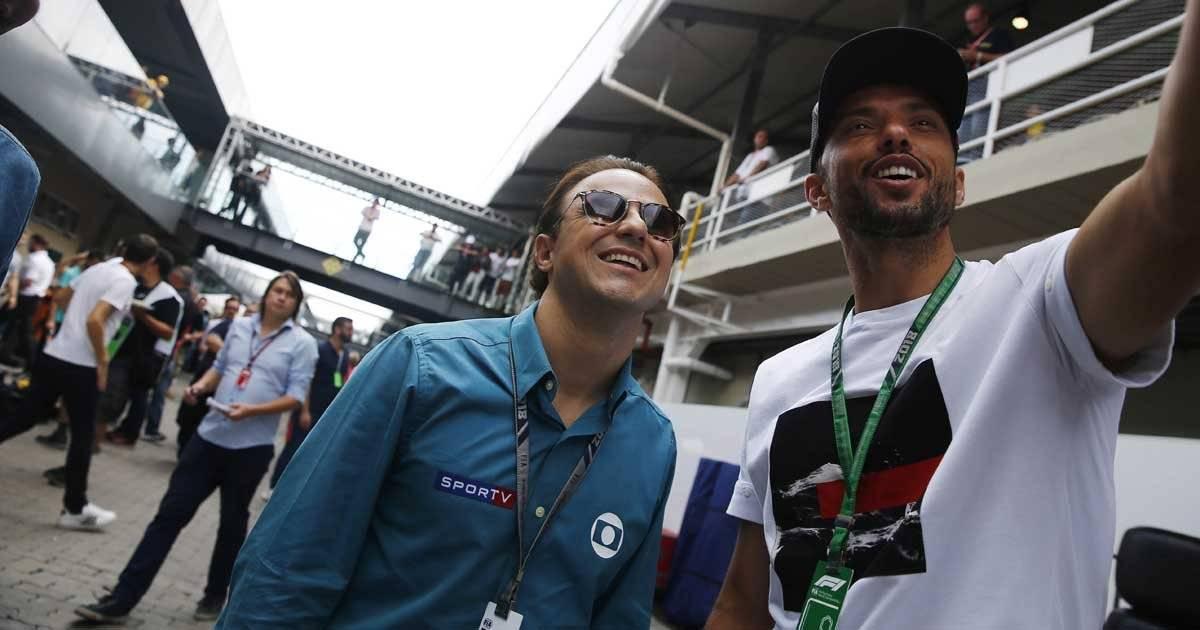 Felipe Massa e o meia Nenê, do São Paulo Foto: André Porto / Metro Jornal