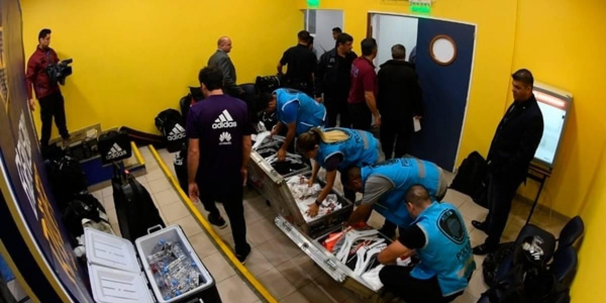 Policía revisó el vestido de River Plate previo a la final de la Libertadores