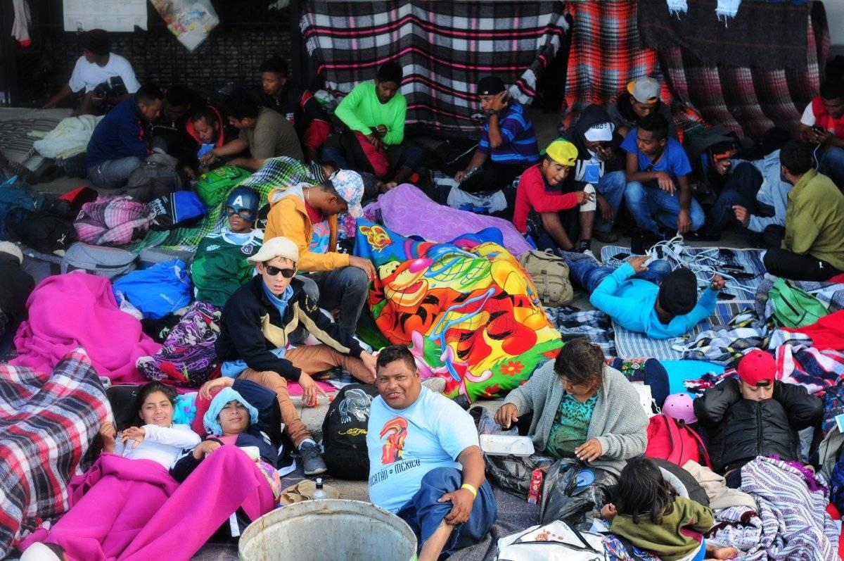 Caravana migrante en Querétaro Foto: Cuartoscuro