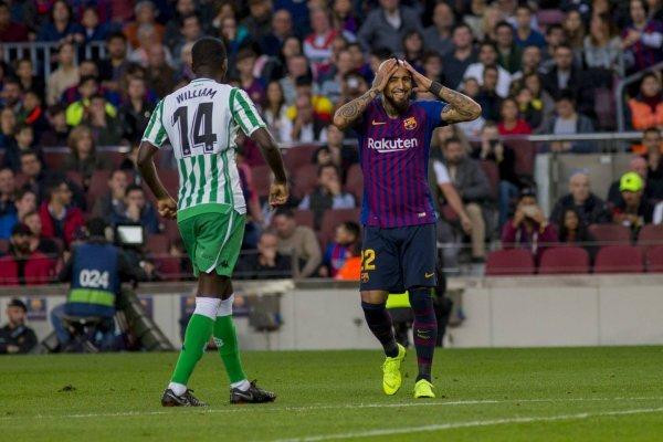 Arturo Vidal sumó otro gol con Barcelona / imagen: Photosport