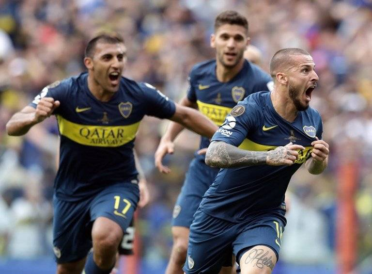 Gol de Boca Juniors contra River Plate