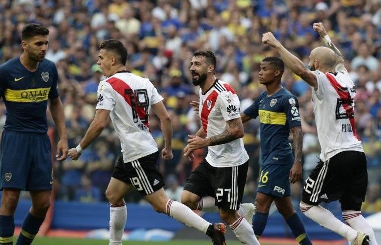 Gol de River Plate contra Boca Juniors