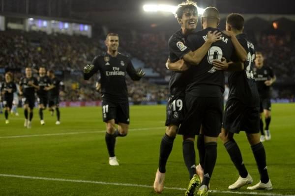 Gol del Real Madrid contra el Celta de Vigo