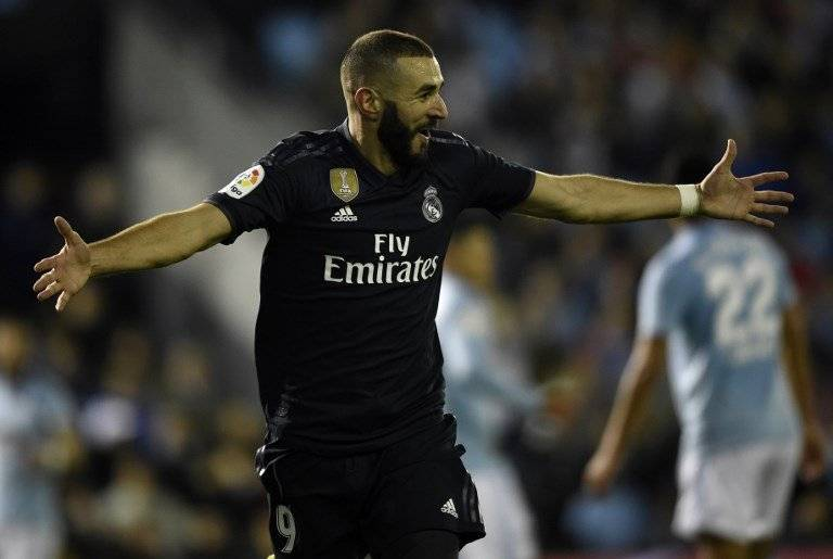 Gol de Karim Benzema contra el Celta de Vigo