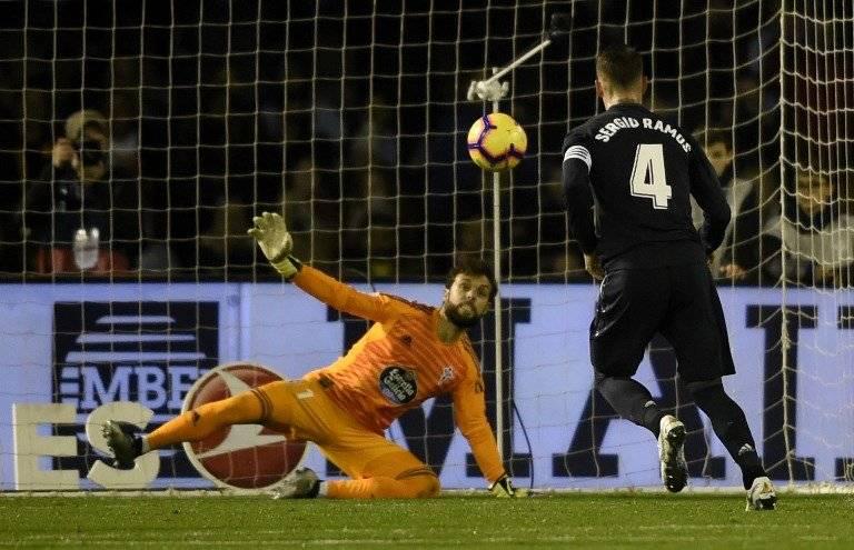 Gol de Sergio Ramos contra el Celta de Vigo
