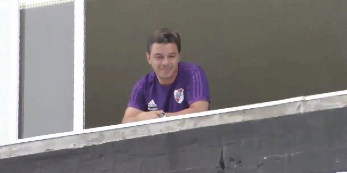 VIDEO: Gallardo celebra empate de Boca-River y causa polémica