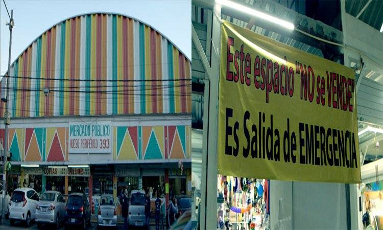 Alcaldía de Tlalpan vende salidas de emergencia de un mercado UNO TV